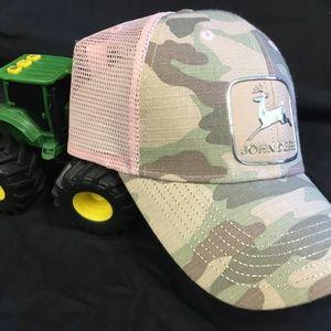 John Deere Tractor Girl Pink Camo Hat